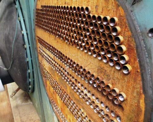 Jako korodirana cev izmenjivača toplote