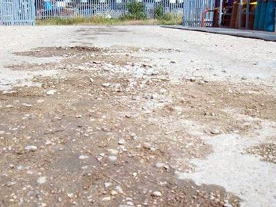 Ponovljena oštećenja betona na području istovara gasne boce