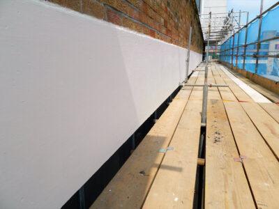 Popravljeni i zaštićeni zid pomoću Belzona 4141 (Magma-Build)