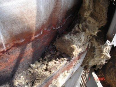 Teško oštećena rashladna kula zbog CUI